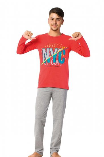 Genç Erkek Uzun Kol Pijama Takımı