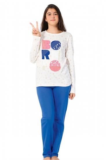 Genç Kız Uzun Kol Pijama Takımı