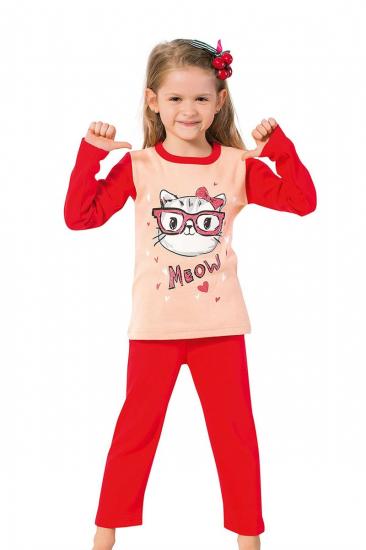 Kız Çocuk Uzun Kol Pijama Takımı