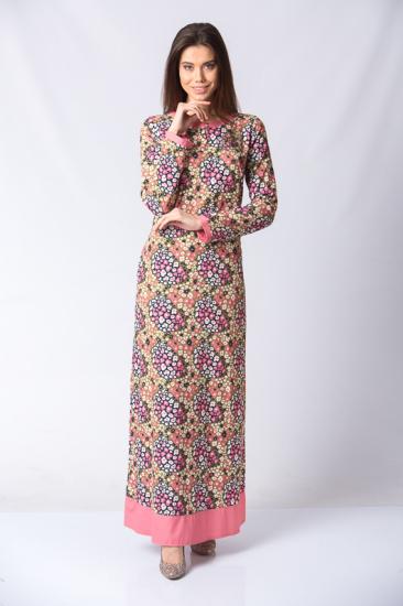 Düğmeli Taş Detaylı Elbise - Pembe