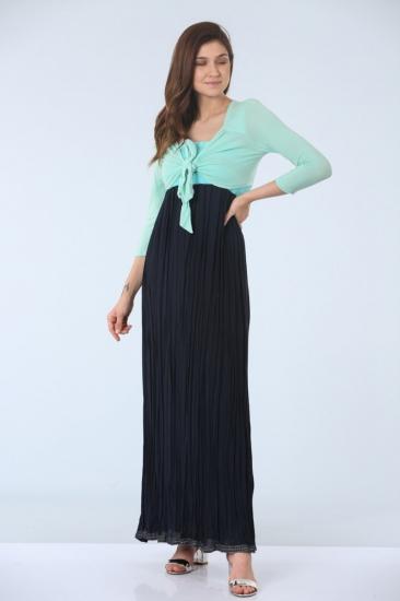 Elbise-Bolero İkili Takım - Yeşil