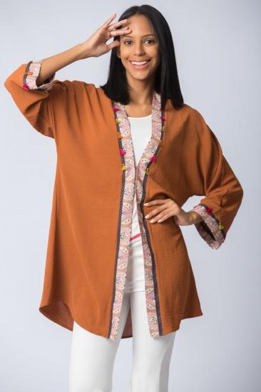 Şifon Kimono - Kiremit