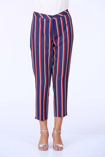 Çizgili Pantolon - Lacivert