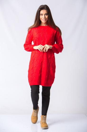 Triko Kazak - Kırmızı
