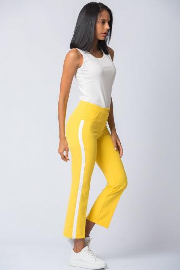 Yanı Şeritli Pantolon - Sarı