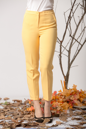 Kumaş Pantolon - Sarı