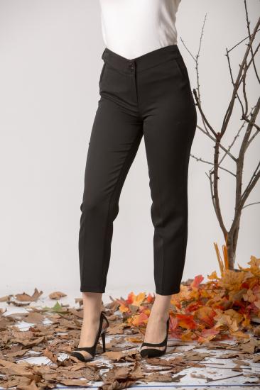 Yüksek Bel Pantolon - Siyah