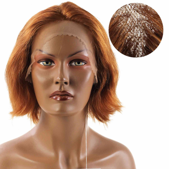 % 100 Doğal Saç Medikal - Tül Peruk / Bal Köpüğü Rengi / Medium / 2,5 PART / 18