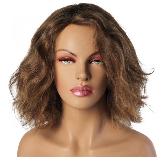 %100 Doğal Saç Peruk / Boyasız, Doğal Dalgalı / Kumral