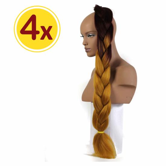 MISS HAIR BRAID - 2 / 34 - 4 Adet Kampanya - Zenci Örgüsü Saçı, Afrika Örgüsü Malzemesi