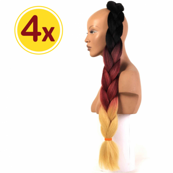 MISS HAIR BRAID - 3 / 13 - 4 Adet Kampanya - Zenci Örgüsü Saçı, Afrika Örgüsü Malzemesi