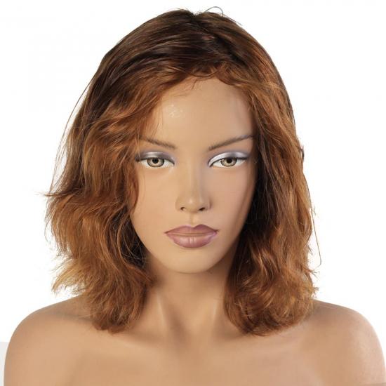 %100 Doğal Saç Peruk / Boyasız, Hafif Dalgalı / Kumral