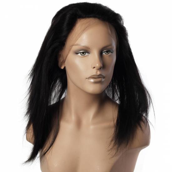 %100 Doğal Saç 360 Yarım Peruk - Full Lace - 15 Inç