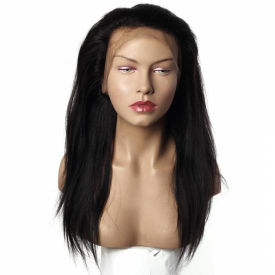 %100 Doğal Saç 360 Yarım Peruk - Full Lace - 19 Inç