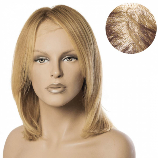 % 100 Doğal Saç Medikal - Tül Peruk /KUMRAL SARI BALYAJLI / SMALL / MONO 13*5 / 20