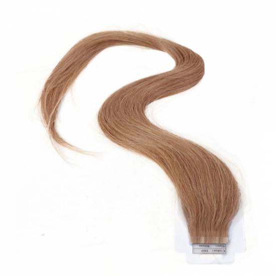 %100 Doğal Saç / Bant Kaynak / Kumral / 10 Adet