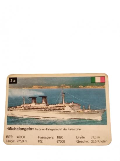 MICHELANGELO TURBINEN-FAHRGASTSCHIFF ITALIAN LINE İTALYA