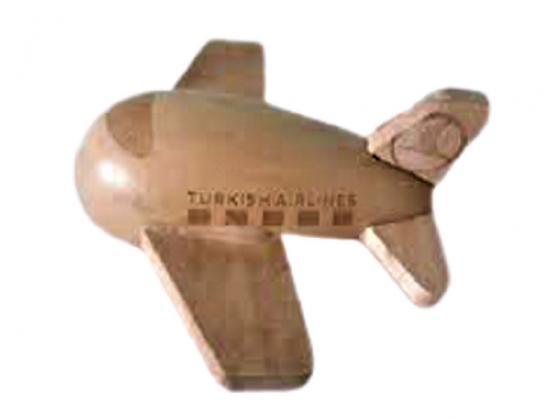 MİNİ AHŞAP OYUNCAK UÇAK TURKISH AIRLINES FSC 100 % WOOD FSC . C 138518 BOYU 7 CM ENİ 9.7 CM DAN İBARETTİR