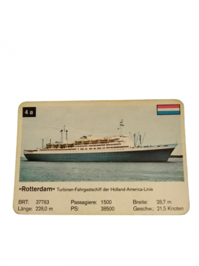 ROTTERDAM HOLLAND AMERİKA LINIE DENİZCİ KOLEKSİYONER OYUN KARTI HOLLANDA