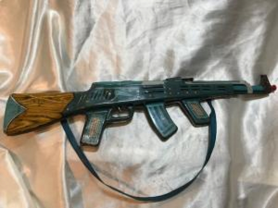 SSCB RUS GUN ELZEİT MUVEK TENEKE OYUNCAK TÜFEK 1960