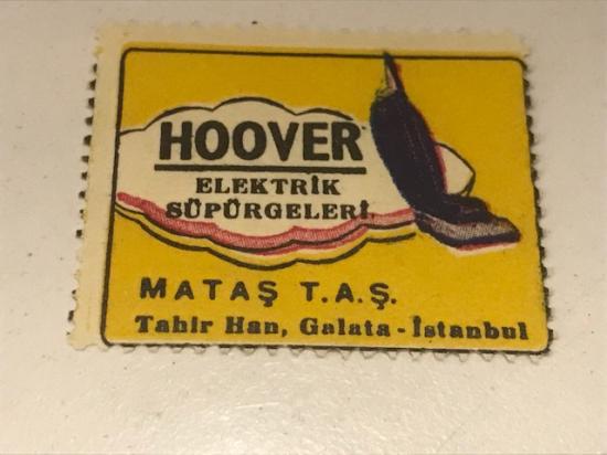 HOOVER ELEKTRİKLİ SÜPÜRGE VİNYET REKLAM PULU 30.36 Mm 1950