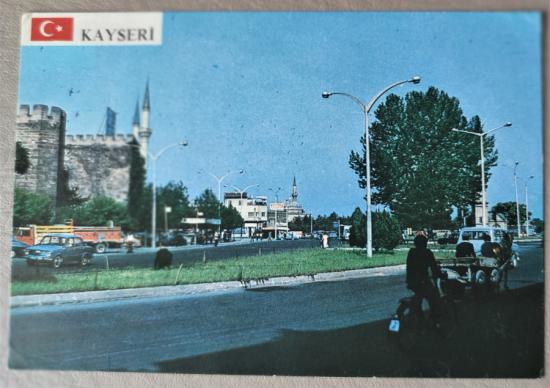 KAYSERİ ARKASI YAZILI KARTPOSTAL 15 X 10 CM