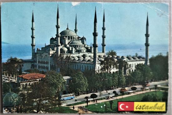 İSTANBUL SULTAN AHMET CAMİİ KARTPOSTAL ARKASI BOŞ