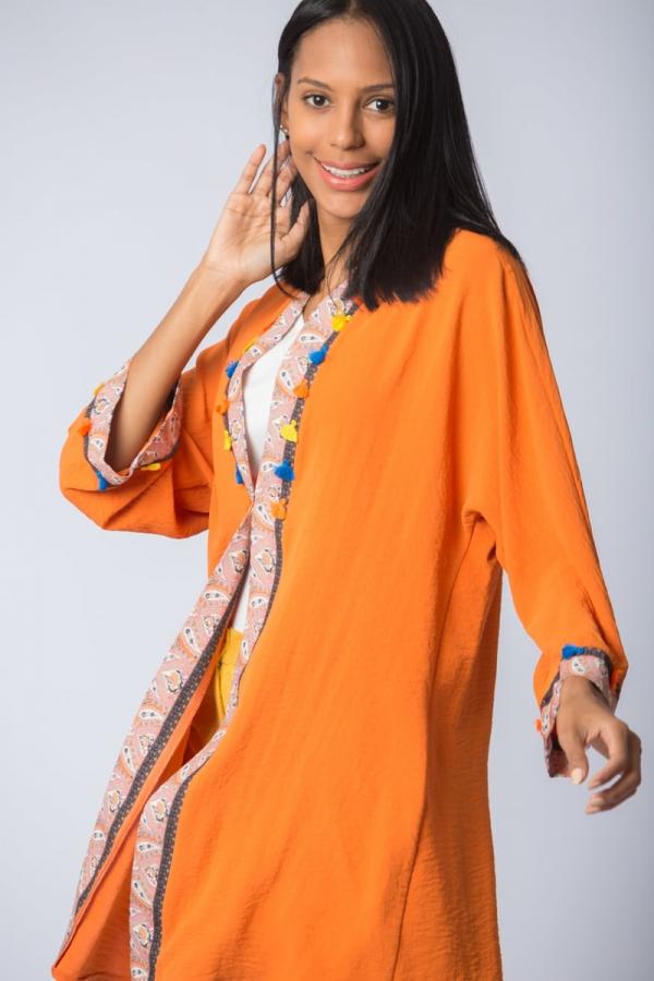 thumbŞifon Kimono - Turuncu